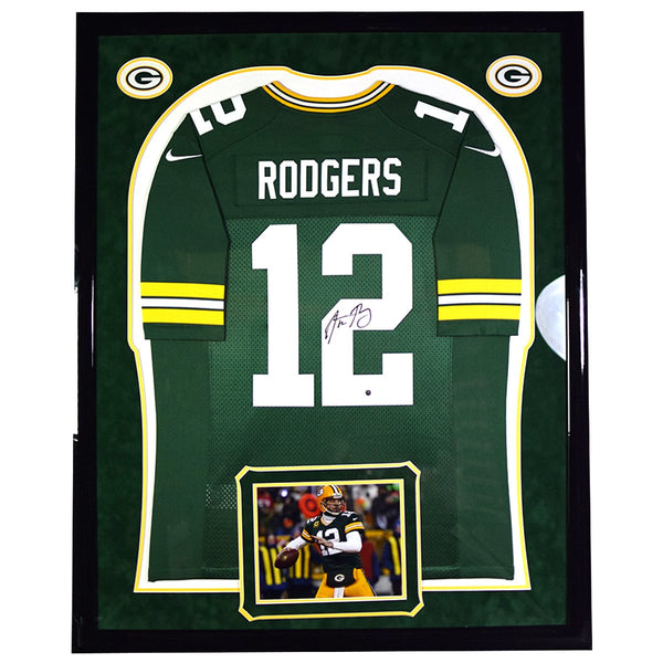 d2d76c51a Aaron Rodgers Green Bay Packers Signed Nike Limited Jersey With Elite –  Steiner Sports