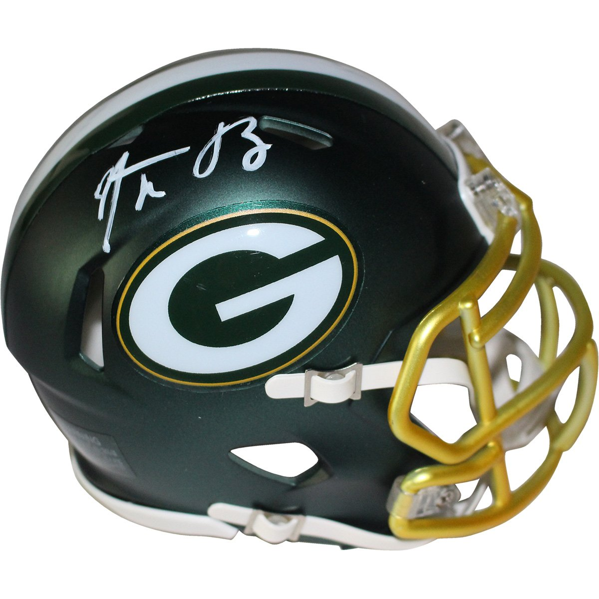 Image of Aaron Rodgers Signed Green Bay Packers Blaze Mini Helmet