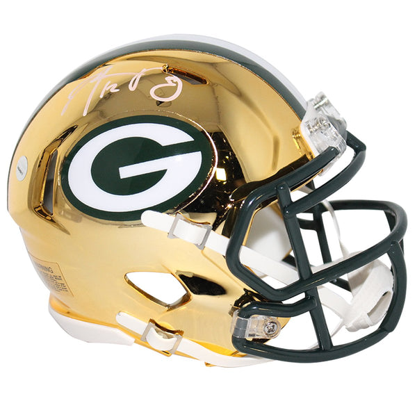 bfe956c00 Aaron Rodgers Green Bay Packers Signed Riddell Mini Chrome helmet – Steiner  Sports
