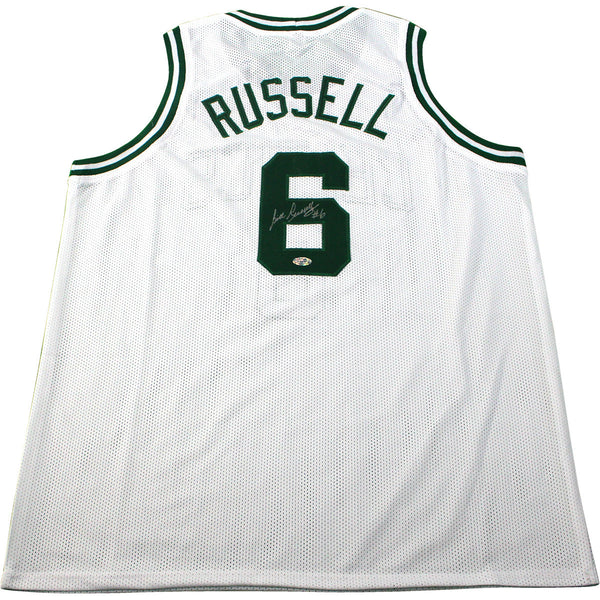 267c7dd09f0 Bill Russell Boston Celtics Signed White Jersey (Hollywood Collectible – Steiner  Sports