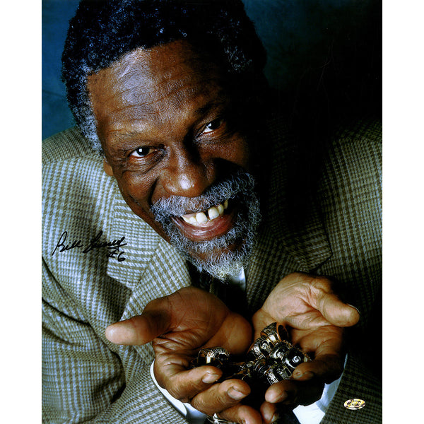 c2d558006f9 Bill Russell Boston Celtics Signed 'Rings' 16x20 Photograph (Hollywood – Steiner  Sports