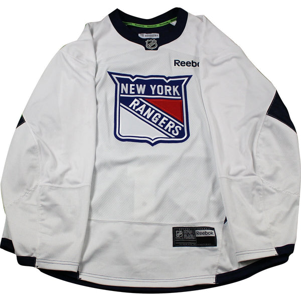 92d430aff New York Rangers White Issued Shield Practice Jersey (Size 58) – Steiner  Sports