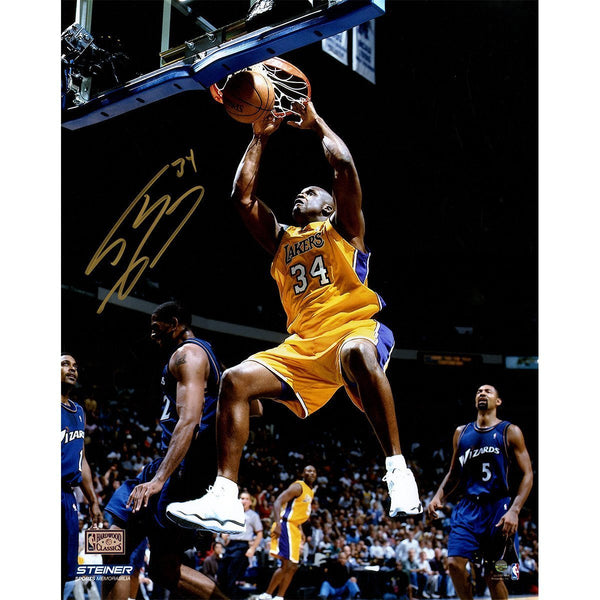 622885fac Shaquille O Neal Los Angeles Lakers Signed Dunking 16x20 Photograph ...