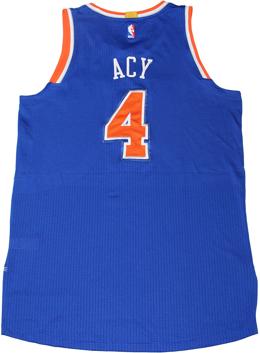 Quincy Acy Jersey - NY Knicks 2014-2015 Season Game Used  4 Blue Jersey  (11 5 2014 at Detroit Pistons) (2XL) (NKN02574) ... 2f345025f