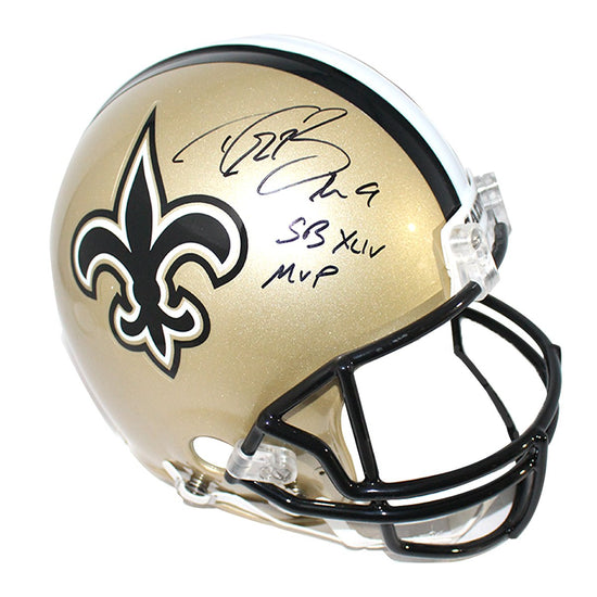 86e2c1c20cd Drew Brees Signed New Orleans Saints Full Size Authentic Helmet w/
