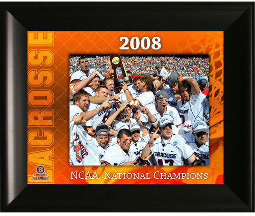 Syracuse 2008 LaCrosse Champions Framed 11x14 Collage Syracuse Lacrosse is arguably the best programs of the last quarter century claiming 10 national titles since 1983 Syracuse lacrosse is synonymous with greatness. 5 of those National Championships have been won under the reign of John Desko who has coache