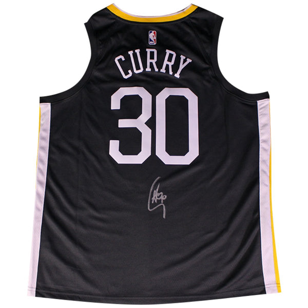 4f96d395a130 Stephen Curry Signed Golden State Warriors Nike Grey Swingman Jersey S –  Steiner Sports