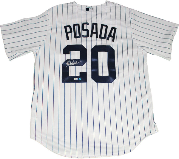 Jorge Posada Signed Posada Retirement Logo Replica Home Yankees Jersey –  Steiner Sports f19f61dad78