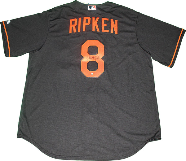 a5f70edaa03 Cal Ripken Jr Signed Baltimore Orioles Majestic Cool Base Replica Blac –  Steiner Sports