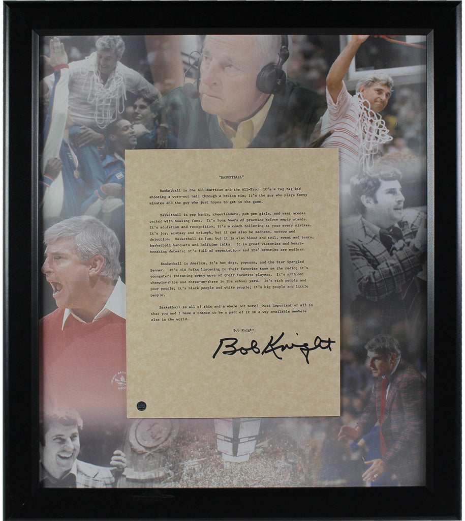 Bobby knight signed basketball letter framed collage 16x19 bobby knight signed basketball letter framed collage 16x19 frame steiner sports jeuxipadfo Gallery
