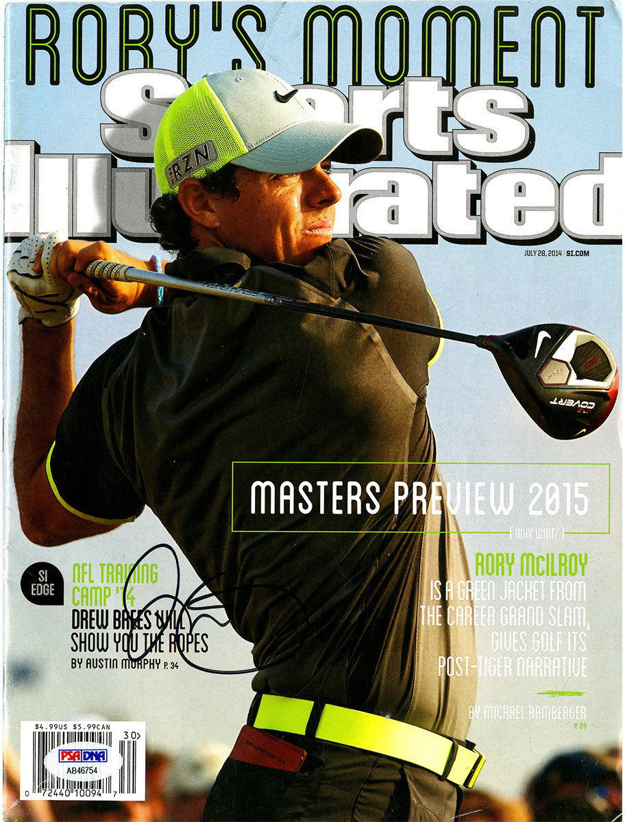 Rory Mcilroy Signed Sports Illustrated Magazine No label ... 8d73f256f340