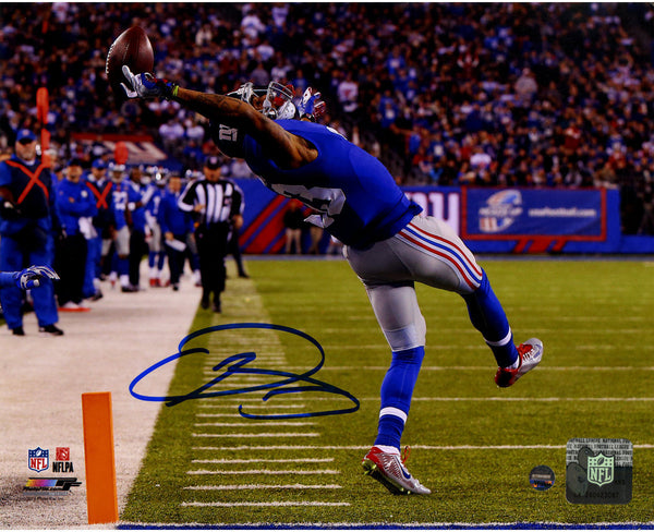 competitive price 940c0 3de74 Odell Beckham Jr. Signed Close Up One-Handed Catch 8x10 Photo