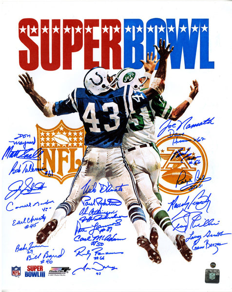 1969 New York Jets Team Signed Super Bowl III Program 16x20 Photo