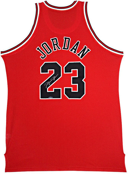 772f319c598 Michael Jordan Autographed Chicago Bulls Mitchell & Ness 97-98 Away/Re –  Steiner Sports