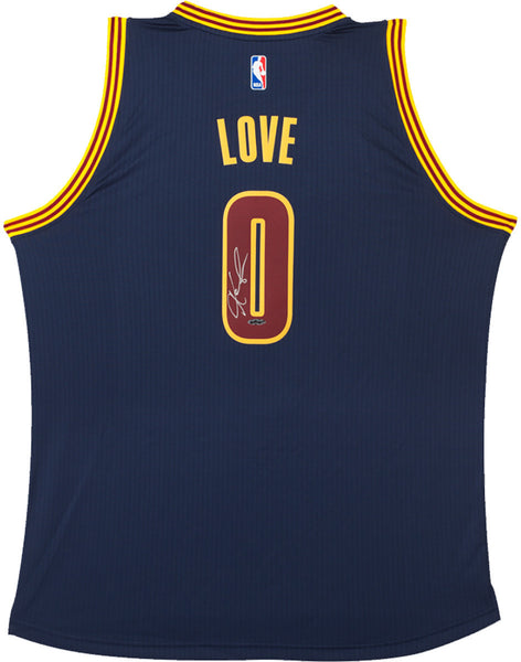 low cost c3bf7 9cc0f Kevin Love Autographed Cleveland Cavaliers Swingman Adidas Blue Alternate  Jersey