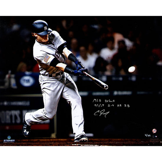 f9f71b498 Clint Frazier New York Yankees Signed  MLB Debut  16x20 Photograph  Inscribed