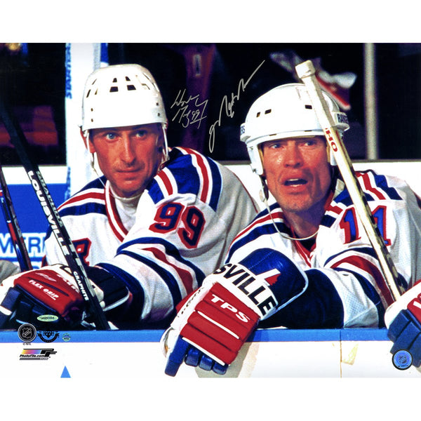cheap for discount 4f287 fd79b Mark Messier & Wayne Gretzky New York Rangers Signed 16x20 Photograph  (UDA/SSM)