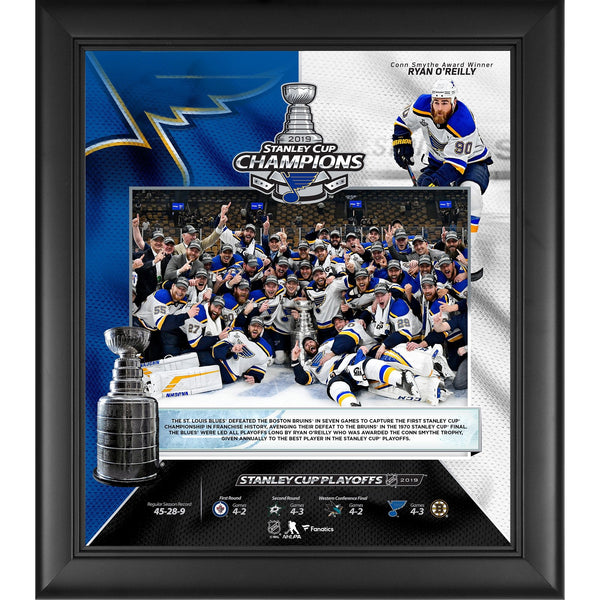 79edd000252 St. Louis Blues 2019 Stanley Cup Champions Framed 15