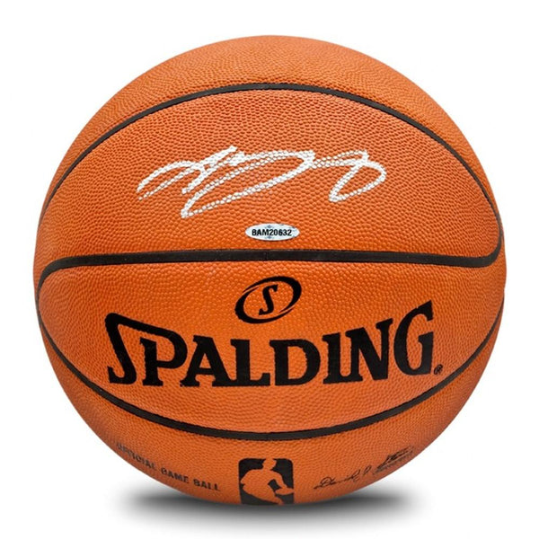 bda18a9a9 LeBron James Los Angeles Lakers Autographed Official NBA Spalding Bask –  Steiner Sports
