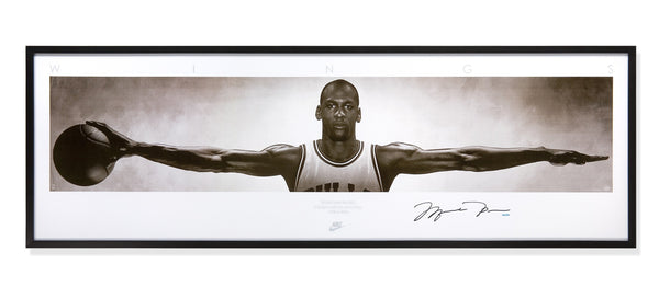 Michael Jordan Autographed & Framed WINGS Poster – Steiner Sports