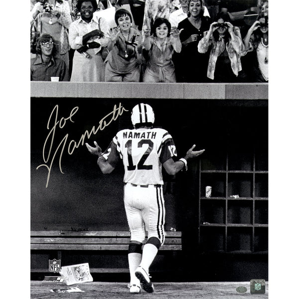 info for c5624 de2da Joe Namath Signed B&W 'Shrug for the Ladies' 16x20 Photo (Namath Holo)
