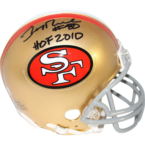 ab887360a Jerry Rice San Francisco 49ers Signed Mini Helmet Inscribed