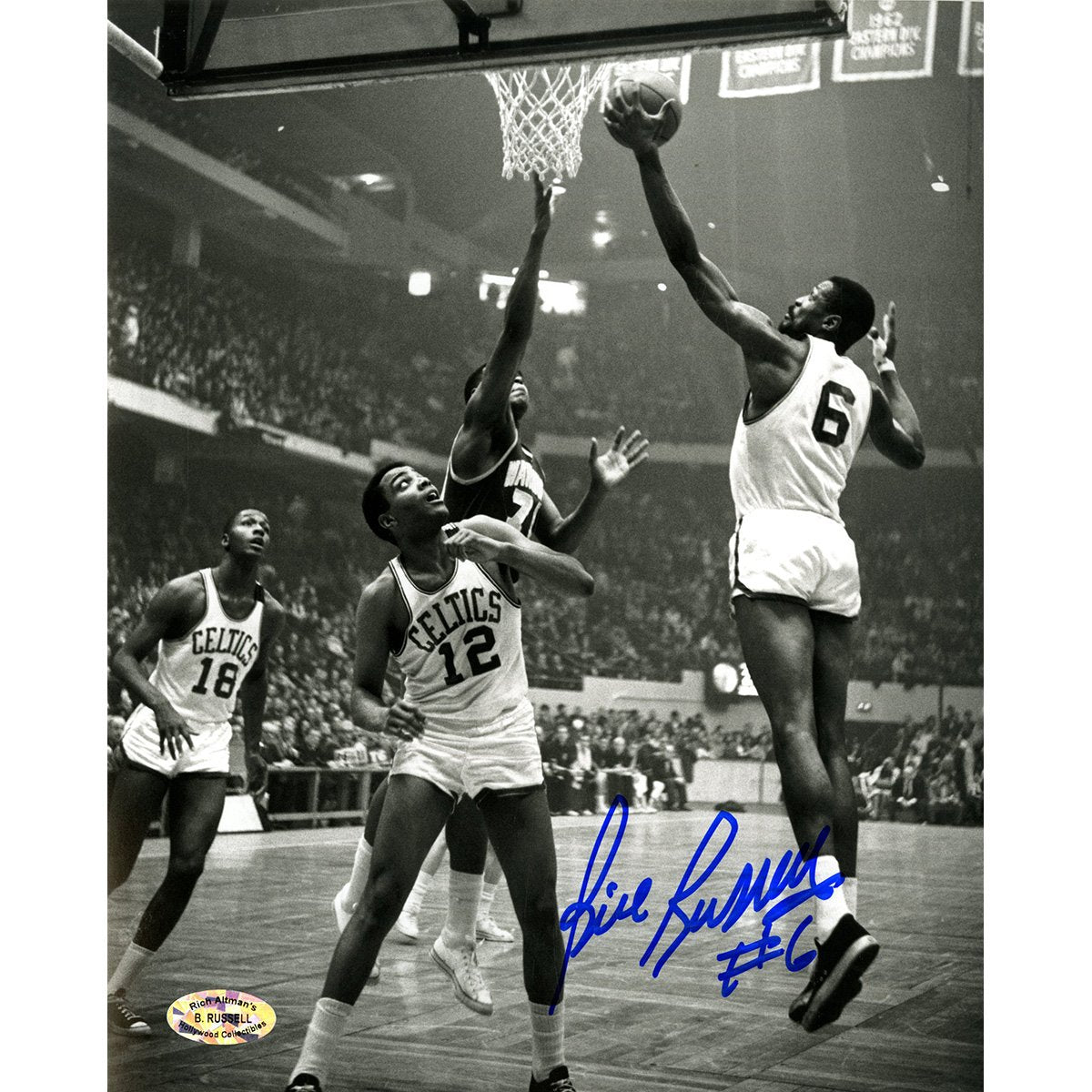 98d89410c0d Bill Russell Signed Vertical B/W 8x10 Photo (Hollywood Collectibles Holo)  ...