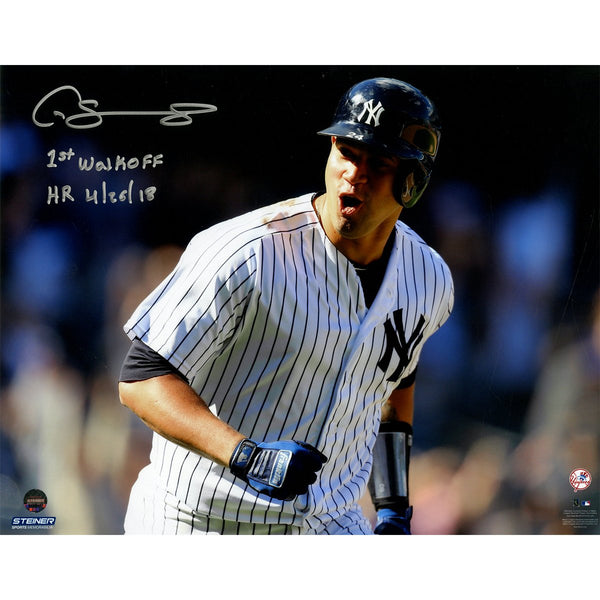 7ed2640a3eb Gary Sanchez New York Yankees Signed Walk Off Home Run 8x10 Photograph  Inscribed