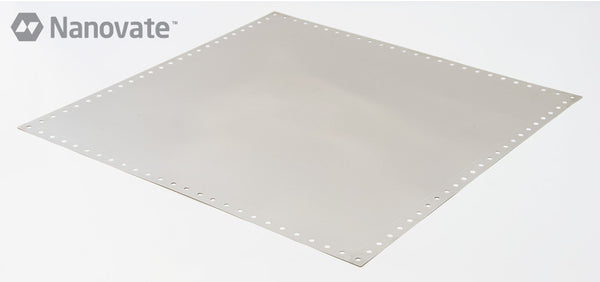 "(26"" x 26"" with Gluedots) Nanovate Fine Grain Nickel Foil for laser-cut SMT stencils"