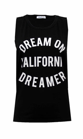 """Dream On"" Baggy Vest Top"