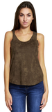 Shirts & Tops, Faux Suede Sleeveless Top - IkoChic