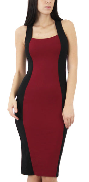 Dresses, Lace Up Back Bodycon Midi Dress - IkoChic
