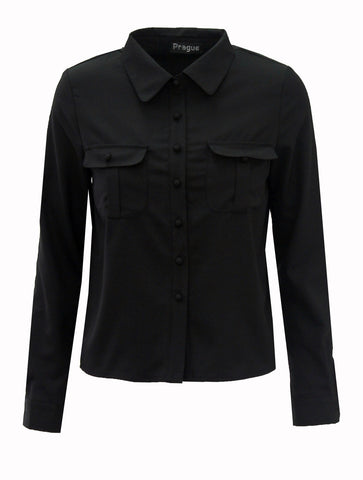 Shirts & Tops, Long Sleeved Button Up Shirt - IkoChic