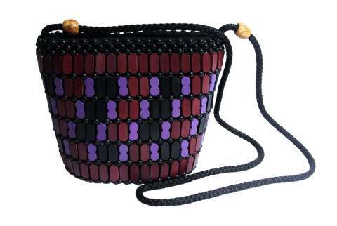 Bags, Purple Ethnic Beaded Bohemian Satchel / Bag - IkoChic