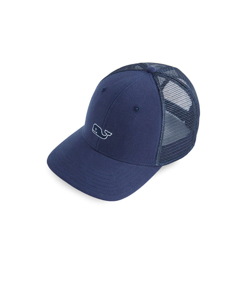 Vineyard Vines High Profile Whale Logo Trucker Hat