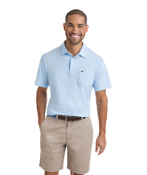 Vineyard Vines - Solid Edgarton Polo - Ocean Breeze