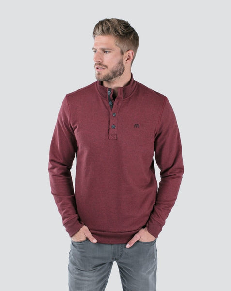 Travis Mathew - WALL - Pullover Sweater - Ox Blood