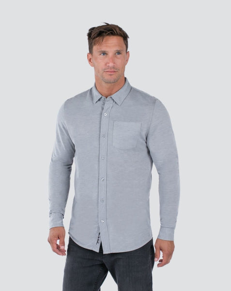 Travis Mathew - TRIP- Button Down - Quiet Shade