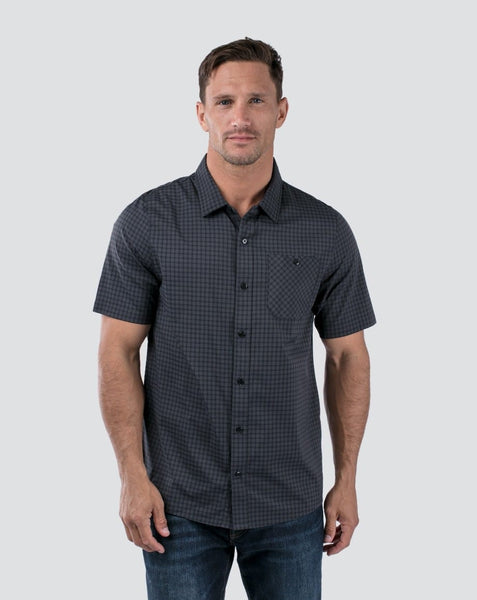 Travis Mathew - BANKER - Short Sleeve Button Down - Black