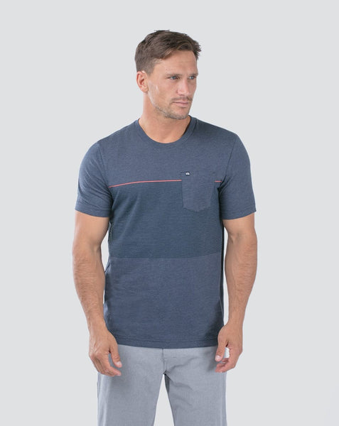 Travis Mathew - JERAMIE - Pocket T- Shirt - Dusk Blue