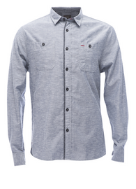 JACHS NY - Button Down - Chambray Double Pocket Shirt