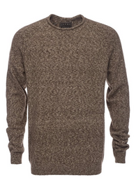 JACHS NY - Brown Melange - Roll Neck Sweater