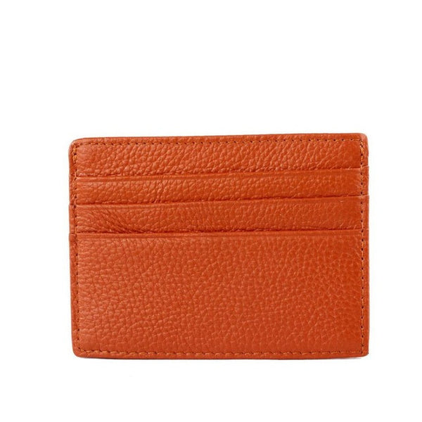 Leather Wallet - Card Holder - ID holder - Brown Black Orange Red