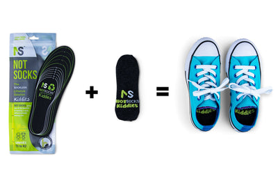NotSocks Kiddies - Sockless Insole + Insole Cover Package