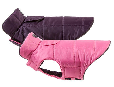 Skyline Puffy Vest - Pink/Blackberry