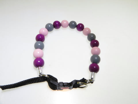 Purple/Grey/Pale Pink Beaded Collar