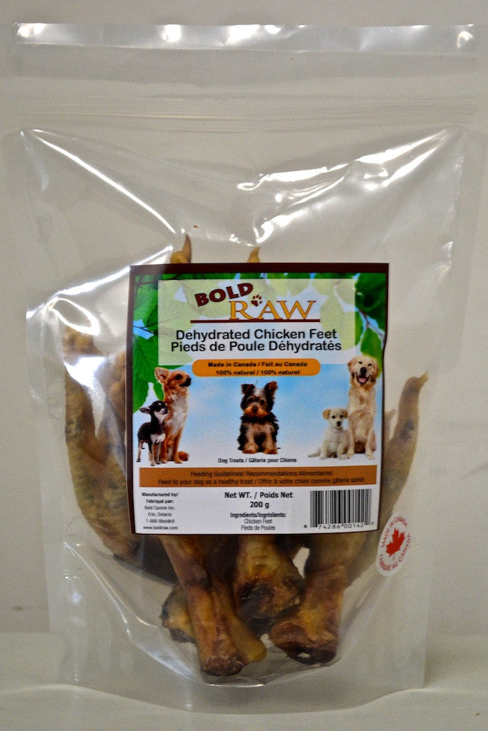 Dehydrated Chicken Feet Fox Tux Pet Boutique