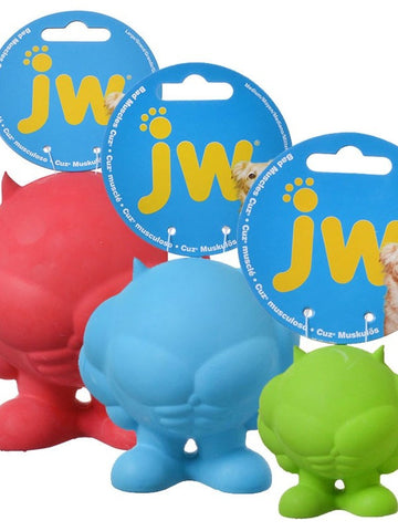 JW Pet Bad Muscles Cuz Squeaky Dog Toy