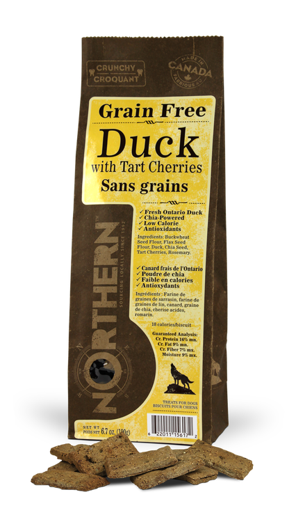 Grain Free Duck w/ Tart Cherries Dog Biscuits