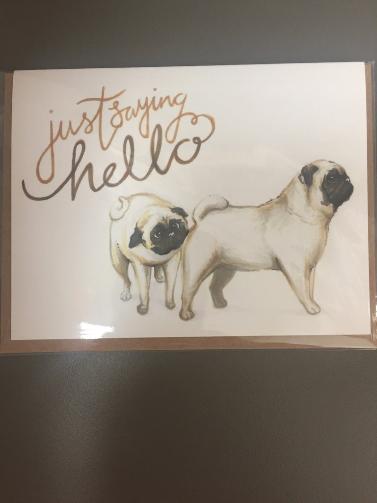 Becky Warren Greeting Card - Just Saying Hello